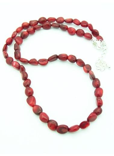 Stoneage Kararlılık İçin Kırmızı Mercan Kolye Renkli